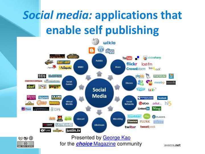 Social media applications that enable self publishing