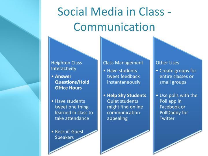 Social Media in Class - Communication