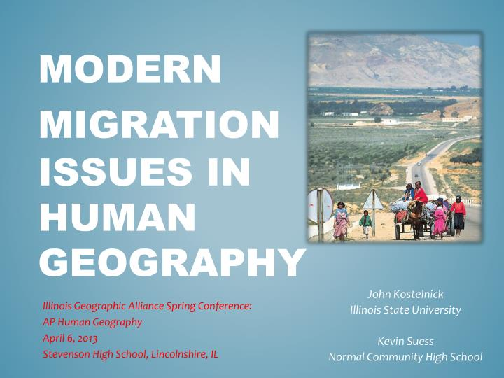 modern migration issues in human geography n.