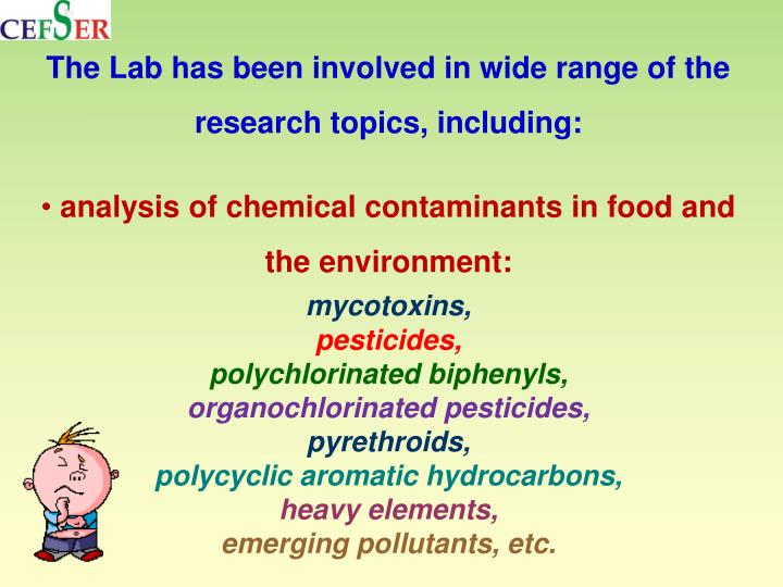The Lab has been involved in wide range of the research topics, including: