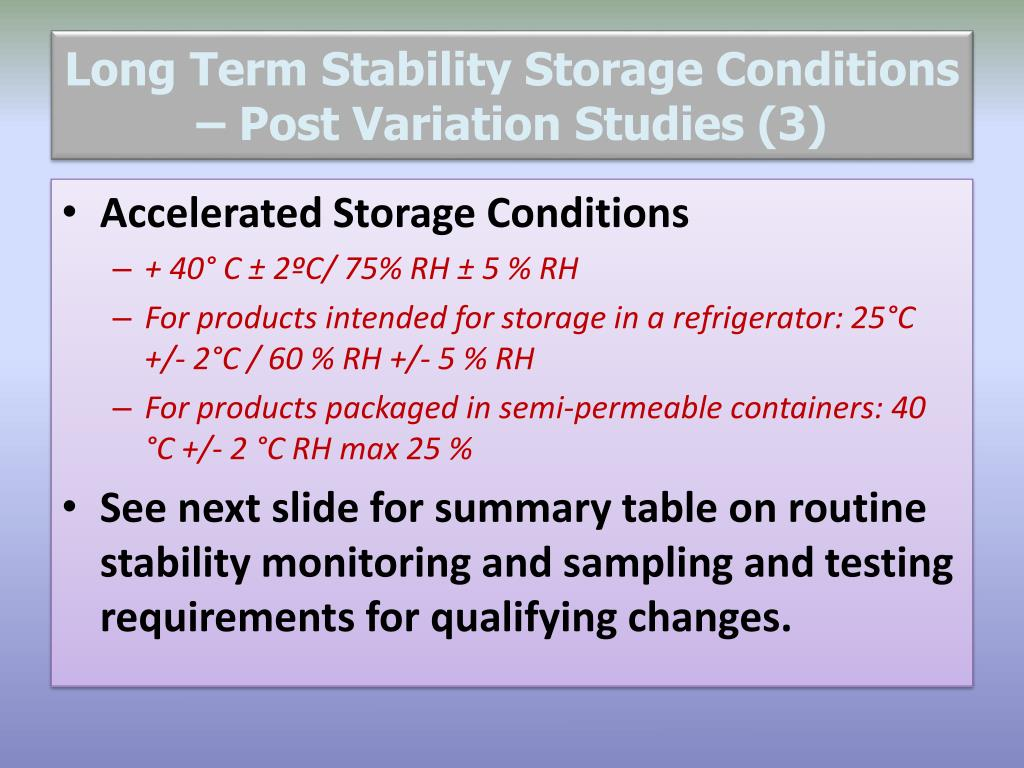 Ppt Post Approval Stability Studies Powerpoint