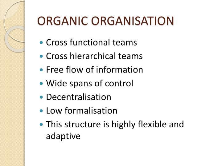 ORGANIC ORGANISATION