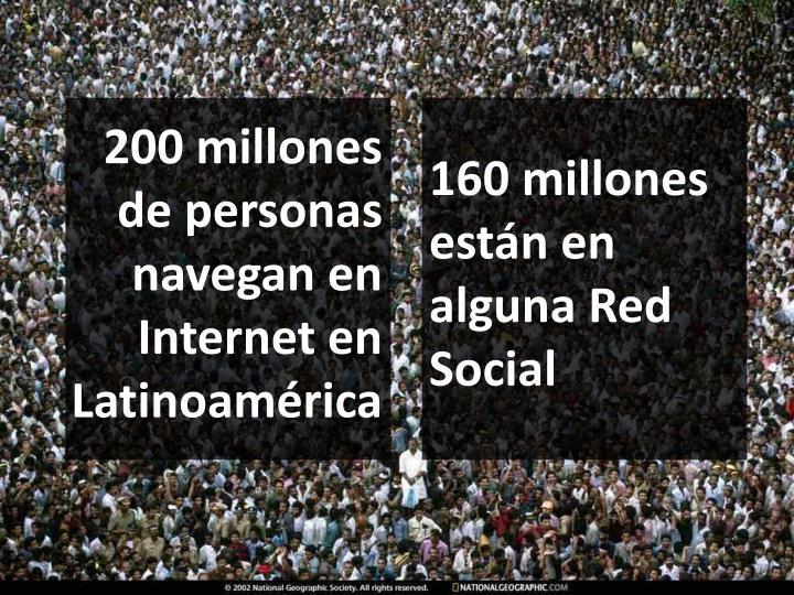160 millones están en alguna Red Social