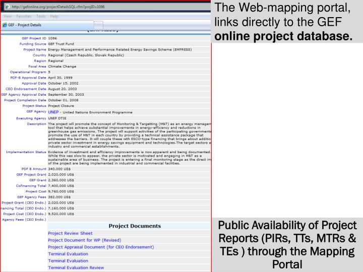 The Web-mapping portal,