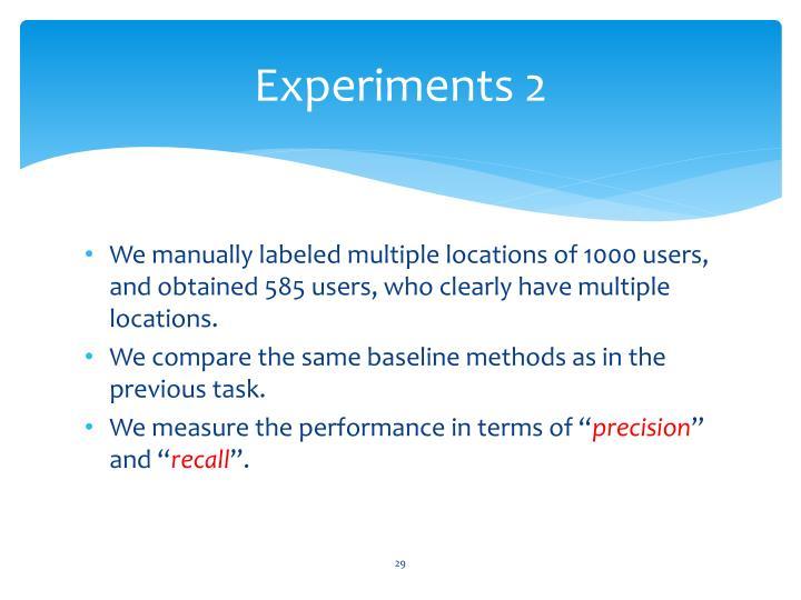 Experiments 2