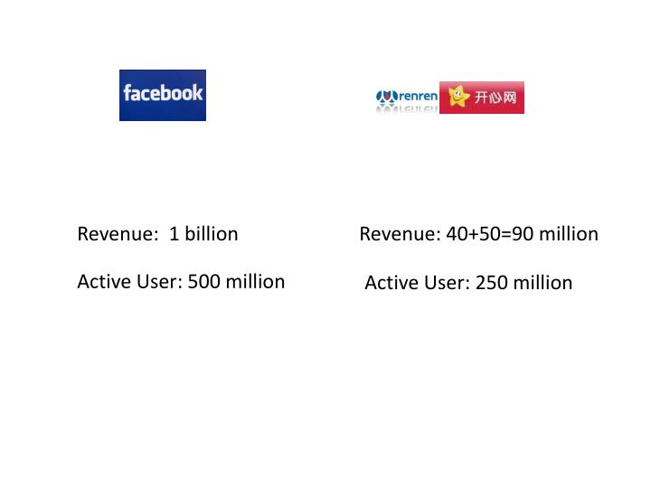 Revenue:  1 billion