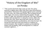 history of the kingdom of wei on pimiko