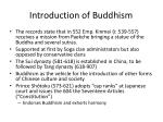 introduction of buddhism