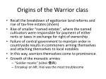 origins of the warrior class