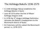 the ashikaga bakufu 1336 1573