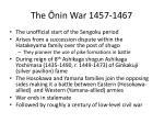 the nin war 1457 1467