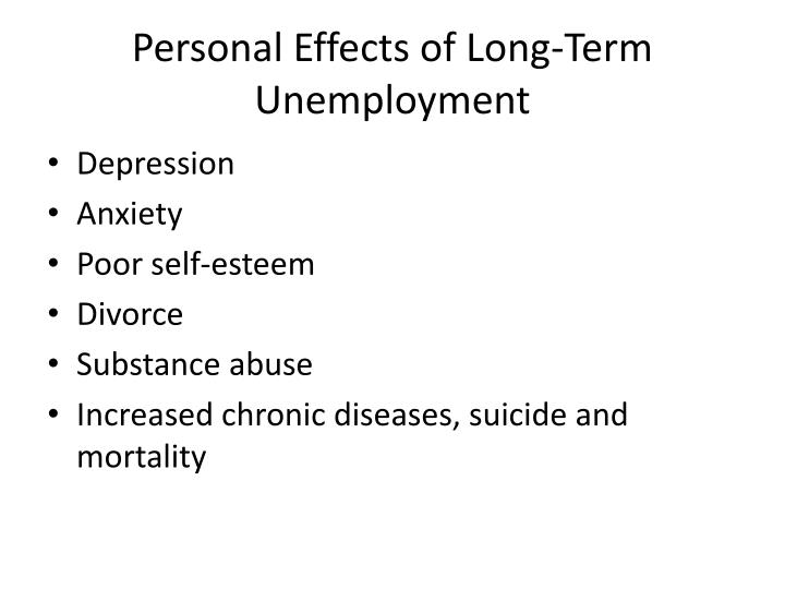 causes and effect of unemployment Causes and effects of unemployment unemployment is described as a situation where a person is qualified and available to work but cannot get a job placement though causes of employment vary with specific regions and time, economy imbalance is the main cause applying to all locations in world.
