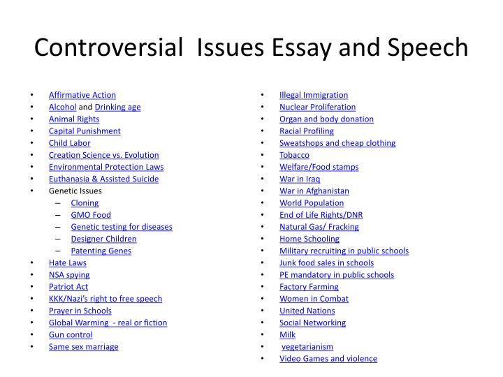 Step By Step Guide: Writing An Essay On A Controversial Issue