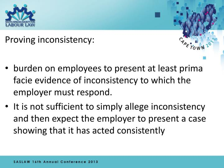 Proving inconsistency: