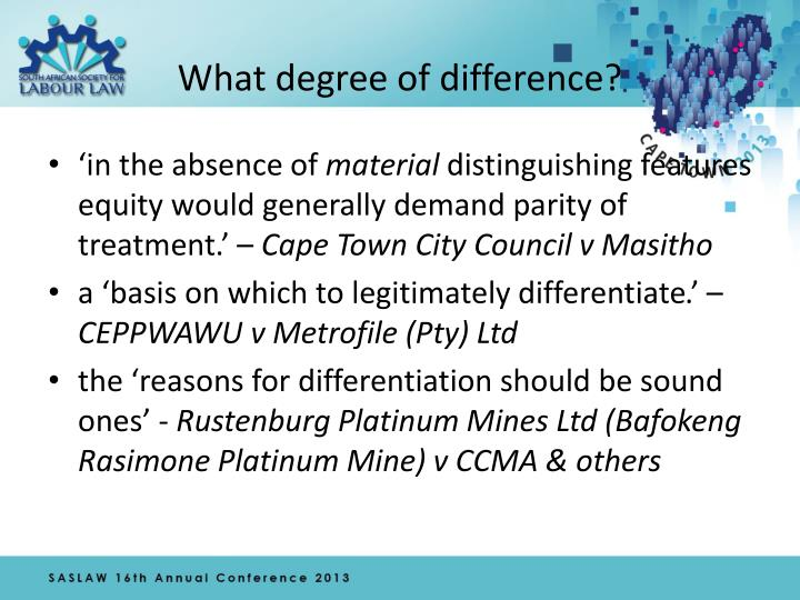 What degree of difference?