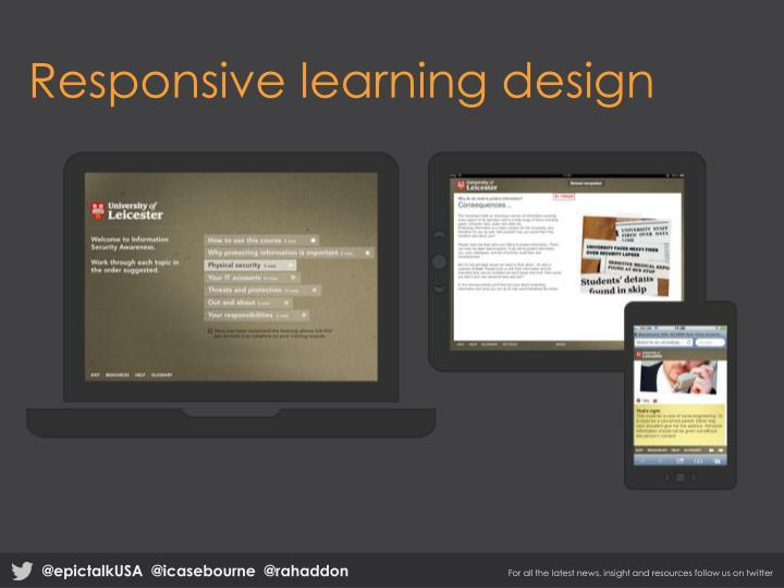 Responsive learning design