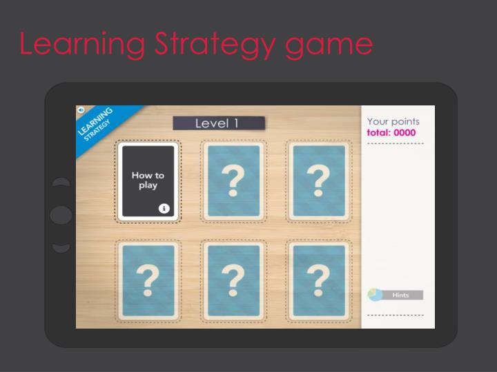 Learning Strategy game