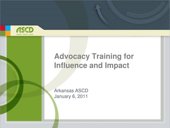 advocacy training for influence and impact n.