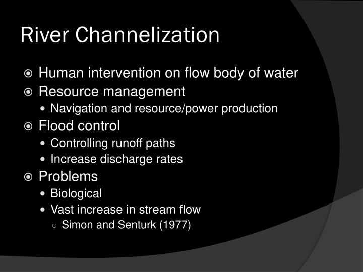 River Channelization