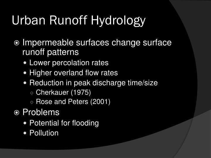 Urban Runoff Hydrology