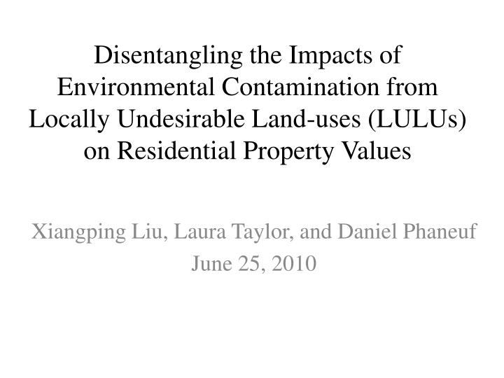 Disentangling the Impacts of Environmental Contamination from