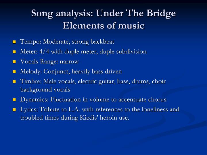 under the bridge song analysis Water under the bridge by adele song meaning, lyric interpretation, video and chart position.