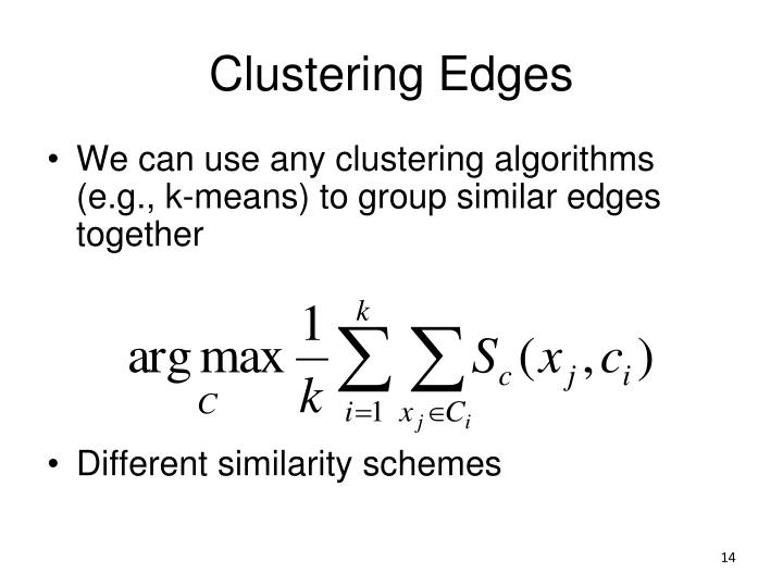Clustering Edges