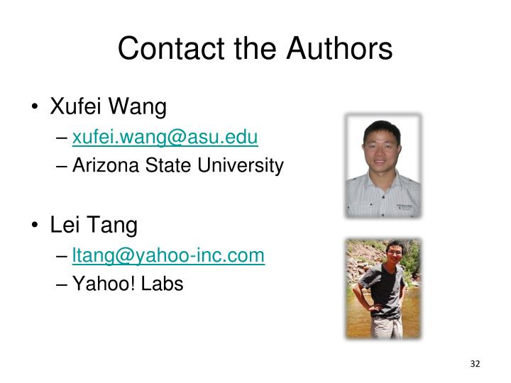 Contact the Authors
