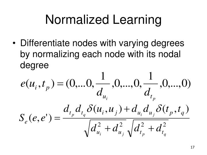 Normalized Learning