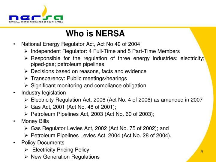 Who is NERSA