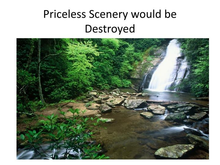 Priceless Scenery would be Destroyed
