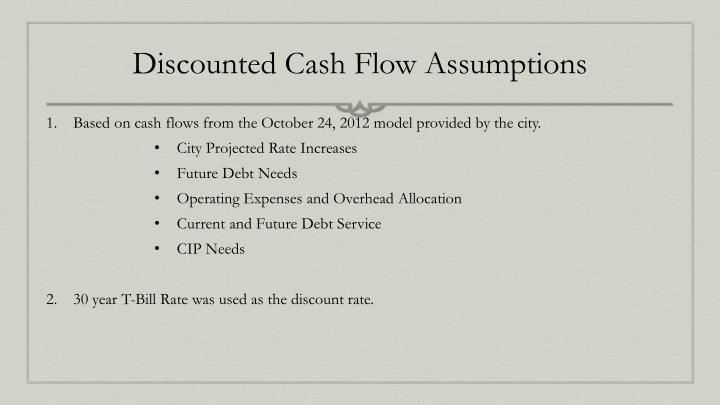 Discounted Cash Flow Assumptions