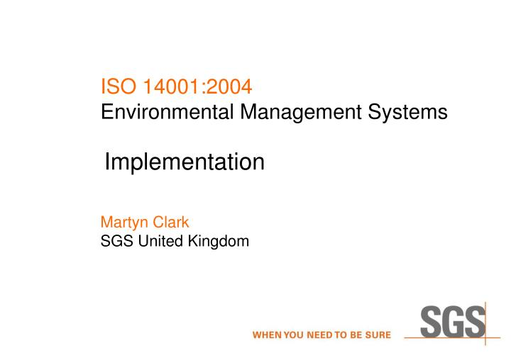iso 14001 2004 environmental management systems
