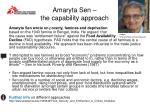amaryta sen the capability approach