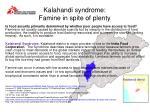 kalahandi syndrome famine in spite of plenty