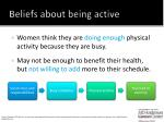beliefs about being active1
