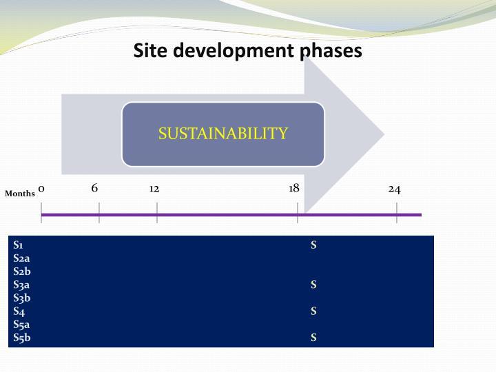 Site development phases