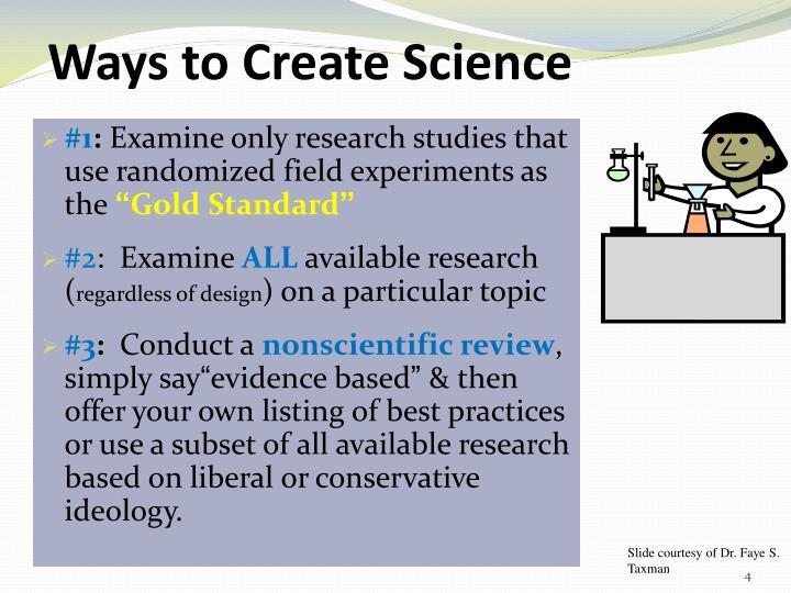 Ways to Create Science