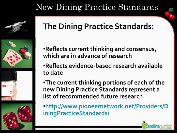 New Dining Practice Standards