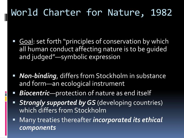 World Charter for Nature, 1982