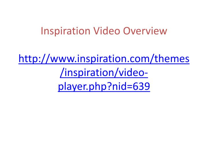Inspiration Video Overview