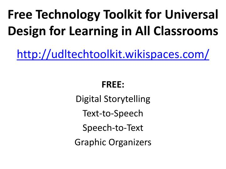 Free Technology Toolkit for