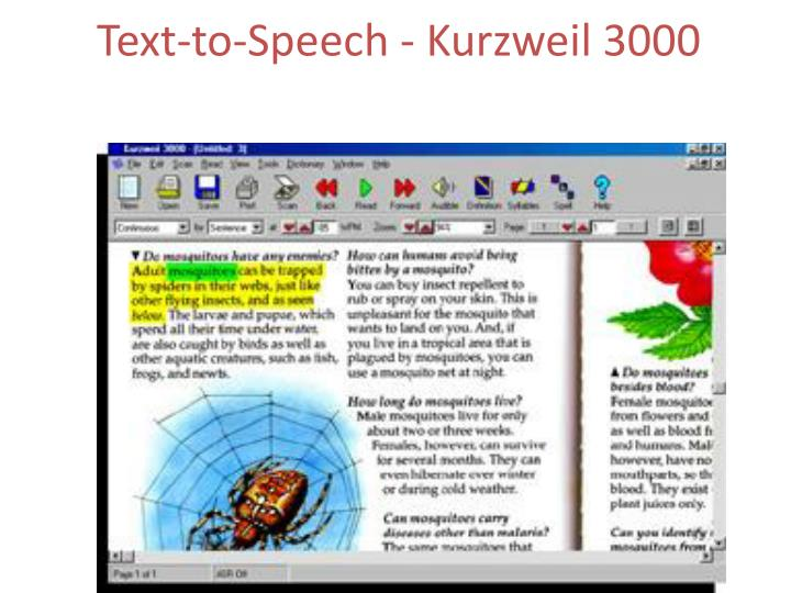 Text-to-Speech - Kurzweil