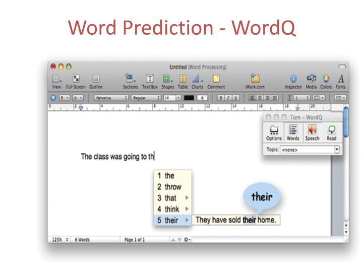 Word Prediction -