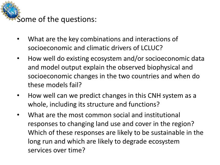Some of the questions: