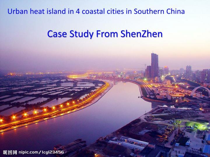 Urban heat island in 4 coastal cities in Southern China