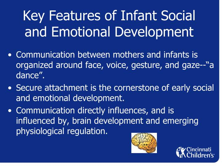 social interaction and the development of infants Infant developmental milestones social & emotional development (noticing &  playing with others) this area of development involves learning to interact with.