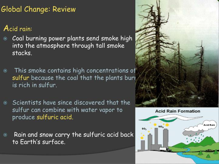 Global change review