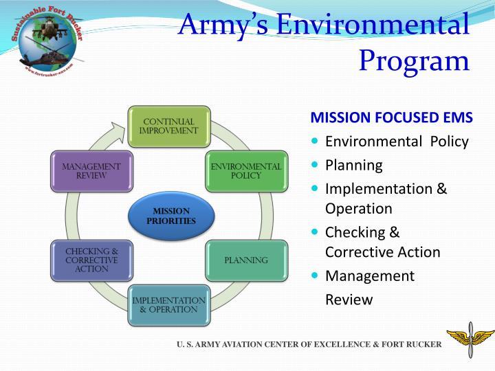 Army's Environmental Program