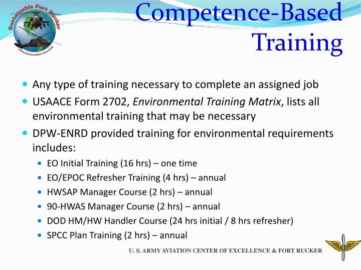 Competence-Based Training